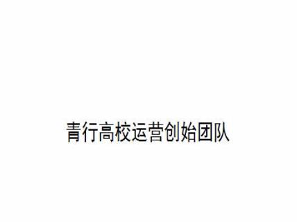 青行高校运营创始团队